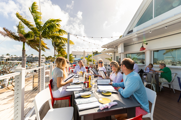 Dockside Group Dining in the Florida Keys